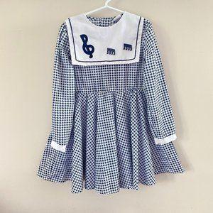 Vintage Nannette Girls Music Dress Size 6